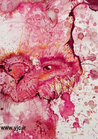 image خلق آثار هنری بسیار زیبا با اسنفاده از لکه های روی لباس