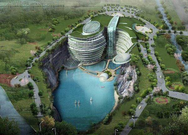 image عجیب ترین هتل جهان در زیر زیمن واقع در کشور چین