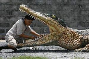 image پرستش تمساح مقدس  در معابد پاکستان