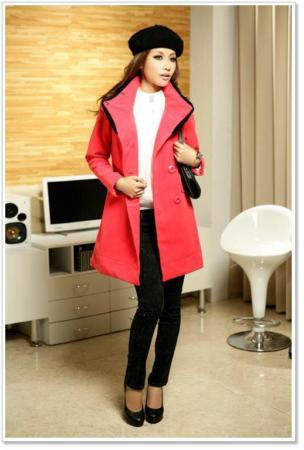 image مدل پالتو زمستانی جدید برای خانم ها زمستان ۱۳۹۱ رنگ قرمز