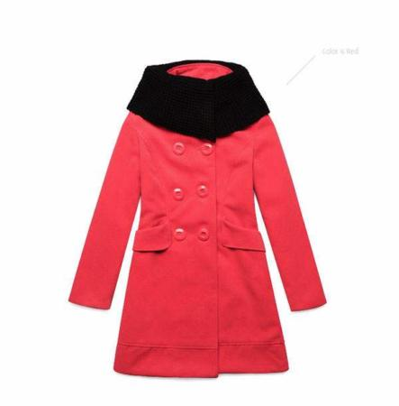image, مدل پالتو زمستانی جدید برای خانم ها زمستان ۱۳۹۱ رنگ قرمز