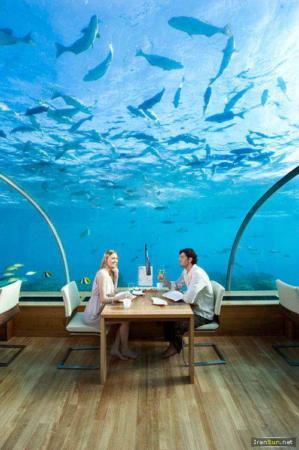 image تصاویری از یک هتل شیک و مجلل در زیر اقیانوس هند