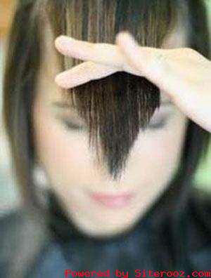 image آموزش تصویری و قدم به قدم کوتاه کردن موی چتری خانم ها در خانه