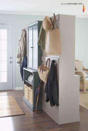 image ایده های جالب برای جدا سازی ورودی خانه از اتاق نشمین