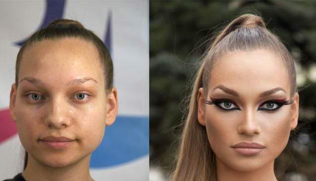 image تصاویر جالب تغییر چهره های زشت به زیبا پش از آرایش