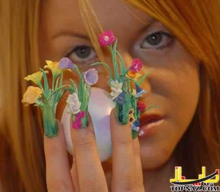 image مدل هایی جالب برای نقاشی و طراحی روی ناخن های دست