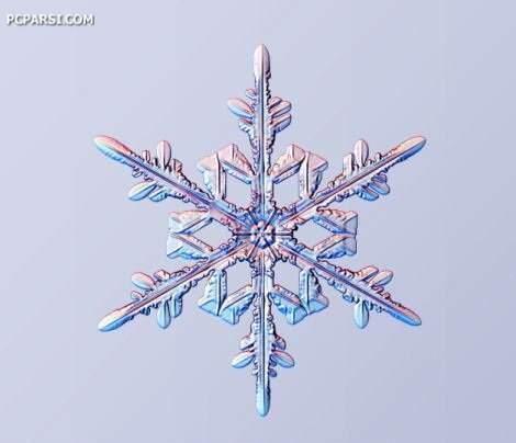 image تصاویر باورنکردنی دانه برف با بزرگنمای ۱۰۰۰ برابر
