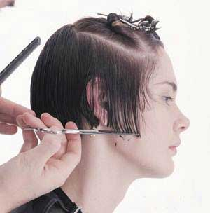 image, آموزش جالب و عکس به عکس کوتاه و مرتب کردن موی چتری زنانه