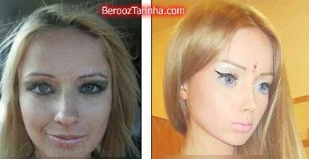 image تبدیل یک دختر با عمل جراحی به یک عروسک معروف