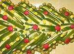 عکس, آموزش اختصاصی تزیین سالاد الویه شکل درخت کریسمس مناسب شب سال نو