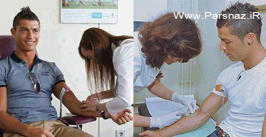 image تردید کریستیانو رونالدو بین اهدا خون یا خالکوبی روی بدن