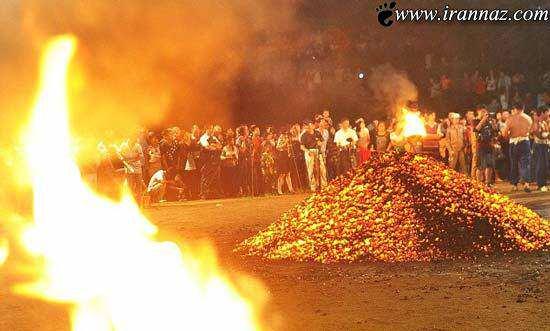 image اطلاعات و عکس های دیدنی از مراسم راه رفتن روی آتش
