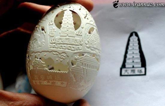 image تصاویر زیبای نقاشی و آثار هنری با پوست تخم مرغ