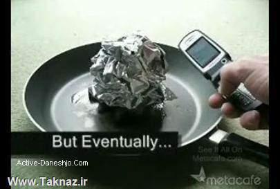 image آزمایش جالب روشن کردن آتش با موبایل به جای کبریت
