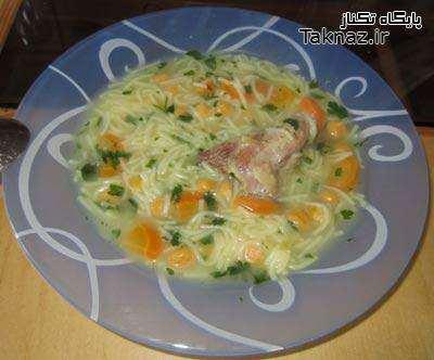 image طرز پخت بهترین غذای درمان سرماخوردگی سوپ ماهیچه