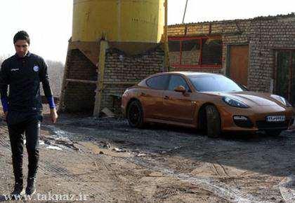 image تصویر ماشین فوتبالیست معروف جواد نکونام