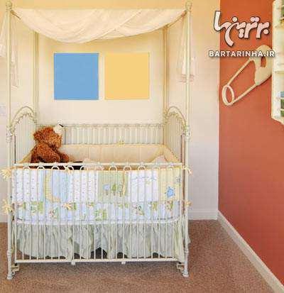 image راهنمای تصویری چیدمان و دکوراسیون اتاق برای نوزاد