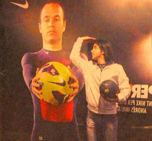 image, تصویر دیدنی محسن یگانه در بازی بارسا اسپانول ۲۰۱۳