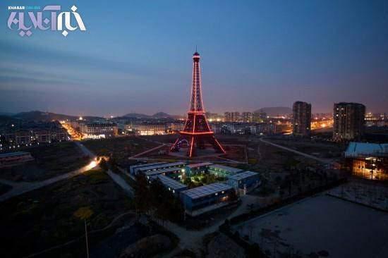 image عکس های جالب ساخت کامل شهر پاریس در چین