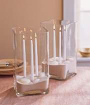 image ساخت و تزیین جاشمعی های زیبا و شیشه ای در خانه