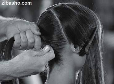 image آموزش تصویری درست کردن مدل های ساده و زیبای دم اسبی مو