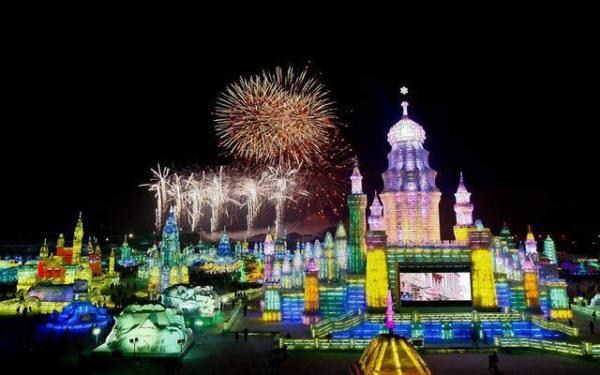 image گشایش فستیوال بین المللی برف و یخ در هاربین چین