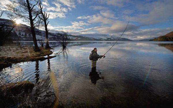 image ماهیگیری در رود تای در اسکاتلند
