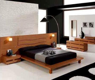 image مدل جدید تختخواب دو نفره MDF قهوه ای