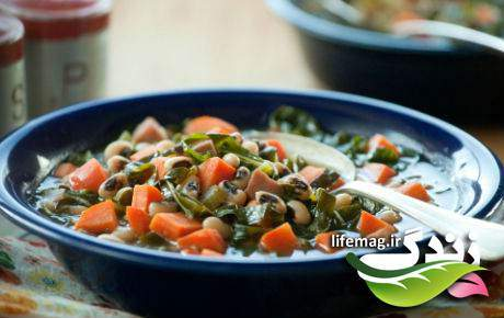 image طرز پخت خوراک رژیمی نخود و سبزیجات