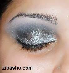 image, آموزش تصویری سایه چشم نقره ای برای خانم ها