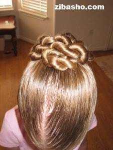 image آموزش تصویری تزیین مدل موی زنانه شینیون بوکل مارپیچی