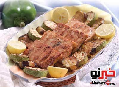 image آموزش درست کردن استیک شیر ماهی غذای سالم و رژیمی