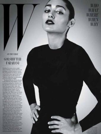 image تصاویر گلشیفته فراهانی  بر روی جلد مجله W