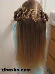 image آموزش عکس به عکس بافت موی دخترانه تل مارپیچی
