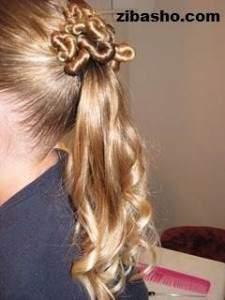 image آموزش عکس به عکس درست کردن مدل موی زنانه شینیون خورشیدی