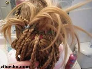 image آموزش تزیین موی سر زنانه مدل شینیون پر طاووسی عکس به عکس