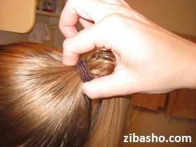 image, آموزش عکس به عکس مدل دم اسبی مو ساده برای خانم ها