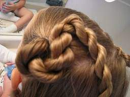 image, آموزش عکس به عکس بافت موی دخترانه تل مارپیچی