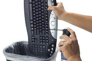 image راهکار های جالبی برای تمیز کردن صفحه کلید