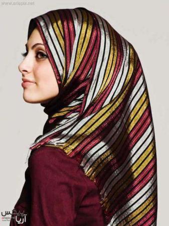 image مدل های تصویری بستن روسری و شال اسلامی