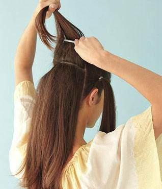 عکس, آموزش عکس به عکس مدل دم اسبی مو ساده برای خانم ها