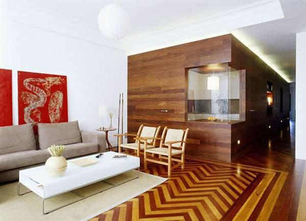 image ایده جدید برای استفاده از کف پوش و دیوار های چوبی در منزل