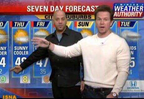 image مجری جدید هواشناسی بی بی سی مارک والبرگ ستاره معروف