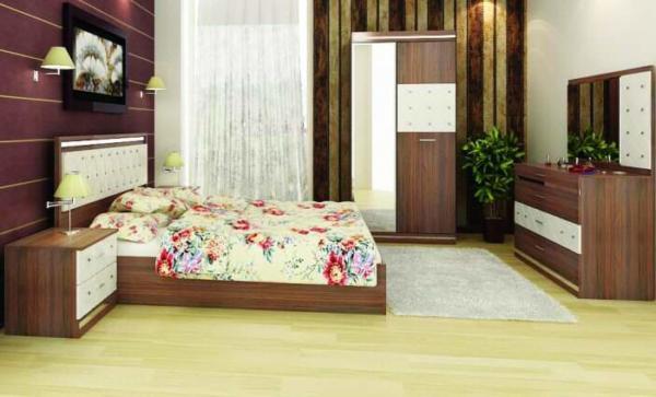 image, مدل های جدید تخت و کمد اتاق خواب عروس