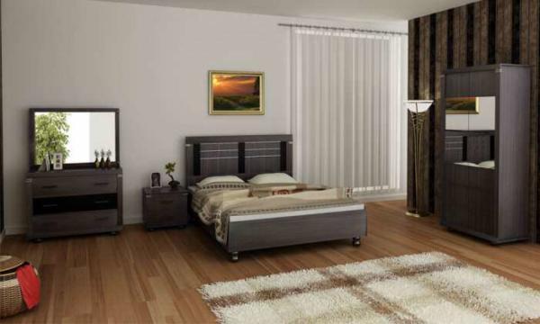image دکوارسیون ساده ترکیب رنگ قهوای برای اتاق خواب