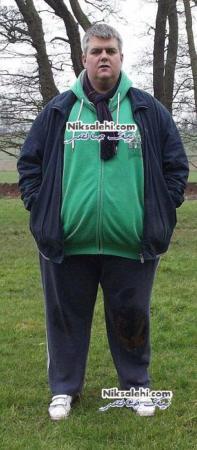 image عکس دیدنی مردی با وزن بالای ۱۹۰ کیلو