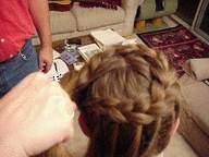 image آموزش عکس به عکس بافت موی زنانه مدل تاج سر