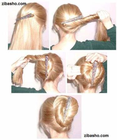 image, آموزش تصویری درست کردن مدل های ساده و زیبای دم اسبی مو