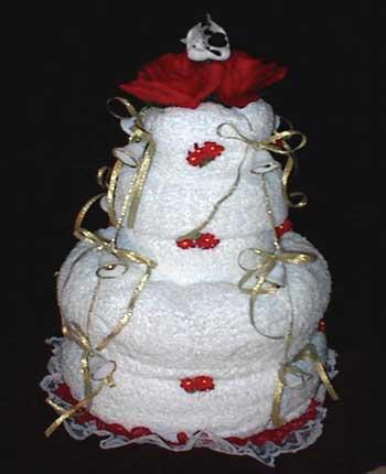 image مدل چیدمان و تزیین حوله عروس و داماد جدید