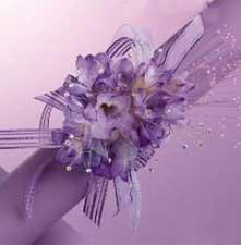 image مدل های جدید طراحی دسته گل عروس به شکل بازوبند